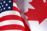 USA and Canadian Flags