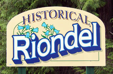 Historical Riondel Sign