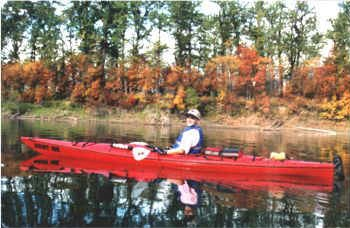 Kayaker at the Creston Wetlands
